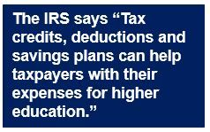 IRS helping with college expenses