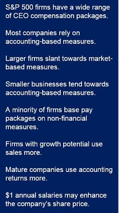 CEO compensation measures