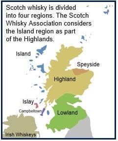 Scotch Whisky four regions