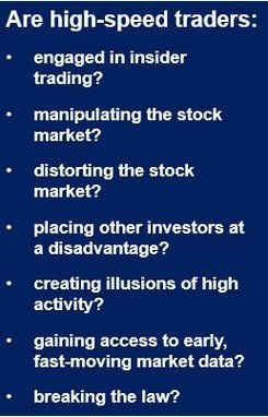 High-speed stock traders