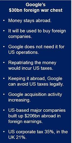 30 billion dollar Google acquisition fund
