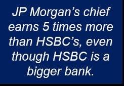 HSBC and JP Morgan bosses' pay.